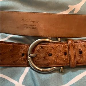 Men's Salvatore Ferragamo Tan leather belt size 38